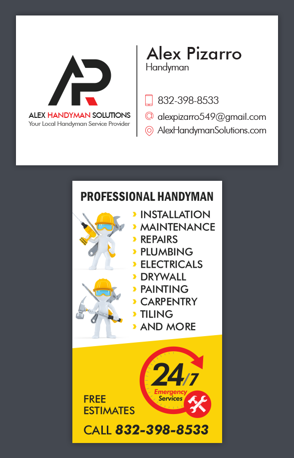 Alex Handyman Solutions Business Card