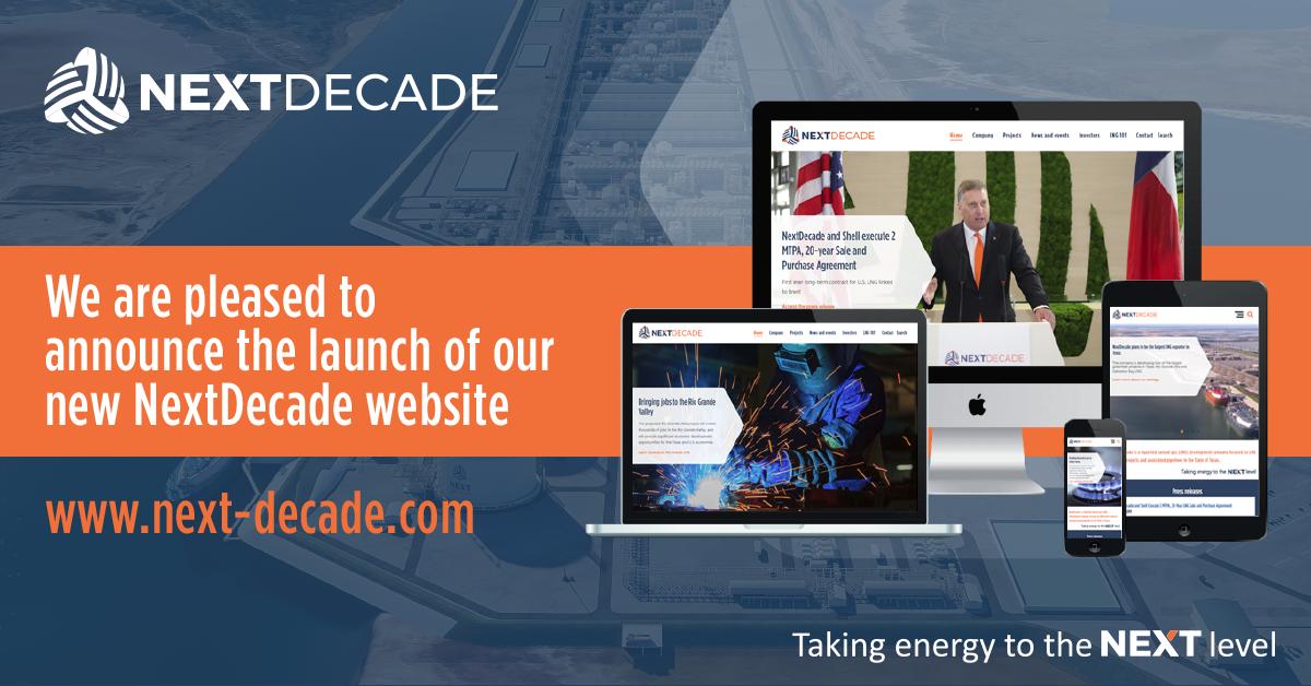 NextDecade Social Media Announcement