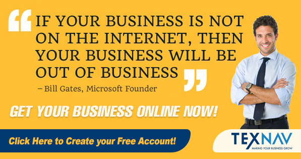 Get Your Business Online - Bill Gates Quote Banner