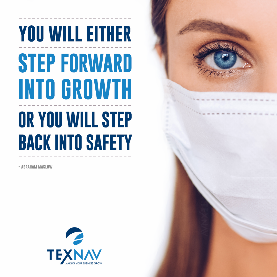 """""""You Will Either Step Forward Into Growth Or You Will Step Back Into Safety"""" -Abraham Maslow"""
