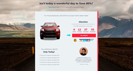 Sales Funnel Daily Deal Page