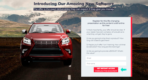 Sales Funnel Landing Page
