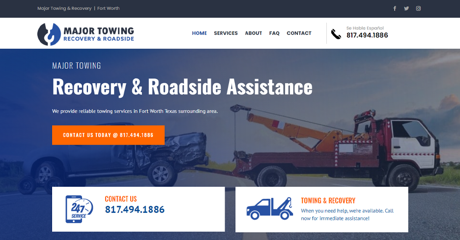 Major Towing Recovery Roadside